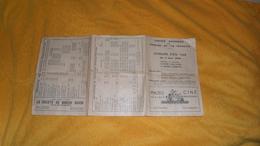 HORAIRE D'ETE 1948. / SOCIETE NATIONALE DE CHEMINS DE FER FRANCAIS. / GENEVE EAUX VIVES ET GENEVE CORNAVIN. - Europe