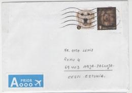 GOOD BELGIUM Postal Cover To ESTONIA 2014 - Good Stamped: Dogs - Belgium