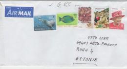 GOOD AUSTRALIA Postal Cover To ESTONIA 2016 - Good Stamped: Queen ; Santa Claus ; Sea Life - 2010-... Elizabeth II