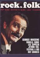 Revue Rock & Folk N° 34 Novembre 1969 Georges Brassens - Music & Instruments