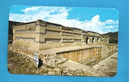 La Zona Arqueologica De Mitia Oax, Mexico  Temple At Mitla  CARTOLINA  Formato Piccolo - Mexique