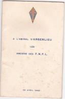 Brochure Militaire - Militaria - A L'amiral D' Argenlieu - Anciens FNFL -25 Avril 1948 - - Livres, Revues & Catalogues