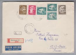 Rumänien 1957-03-01 Bukarest R-Brief Mit Rückschein Nach Onex CH - 1948-.... Républiques