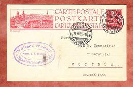 P 97 Ziffer, Abb: St.Gallen, Zollikon Zuerich Nach Cottbus 1923 (33691) - Ganzsachen