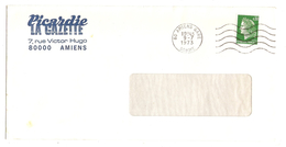 LETTRE AMIENS GARE SOMME 9/7/1973 JOURNAL PICARDIE LA GAZETTE - Y & T MARIANNE CHEFFER 1536A - 2 Scans - Marcophilie (Lettres)