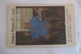 CPA  EMPRUNT 1920  WW1 1914  1918 CARTE ECRITE VOYAGE - Banques