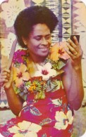 Fiji Beautiful Girl Getting Ready For The Dance