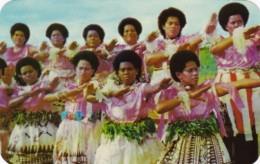 Fiji The Fijian Meke Traditional Dance - Fiji