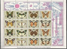 DUBAI - Animals - Insects - Butterflies - Nature - CTO - Mariposas