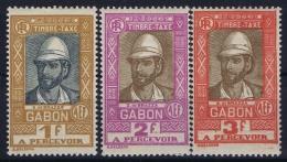 Gabon:   Tax  Yv 20 - 22 MH/* Falz/ Charniere - Gabon (1886-1936)
