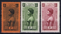 Gabon:   Tax  Yv 31 - 33 MH/* Falz/ Charniere - Timbres-taxe