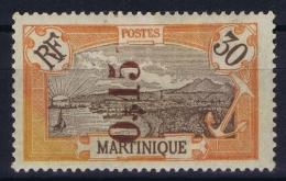 Martinique Yv Nr 107 Surcharge Renversée  MH/* Falz/ Charniere 1922 - Neufs