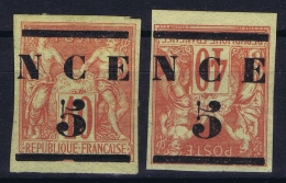 Nouvelle Caledonie   Yv Nr 6 + 6a  MH/* Falz/ Charniere 1881 - New Caledonia