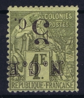 Nouvelle Caledonie   Yv Nr 10a  MH/* Falz/ Charniere 1886 Surcharge Renversée  Signed/ Signé/signiert - New Caledonia