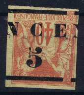 Nouvelle Caledonie  Yv Nr 6a Surcharge Renversée +  A Cheval MH/* Falz/ Charniere 1883 - Nouvelle-Calédonie