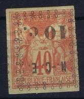 Nouvelle Caledonie  Yv Nr 11a Surcharge Renversée  MH/* Falz/ Charniere 1891 - Ungebraucht