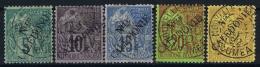 Nouvelle Caledonie  Yv Nr  24 - 28  Obl Used  1892 - Gebraucht