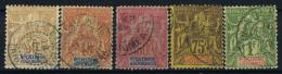 Nouvelle Caledonie  Yv Nr 49 - 53   Obl Used  1892 - Gebraucht
