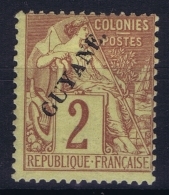 Guyane  Yv Nr  17   MH/* Falz/ Charniere 1892 - Neufs