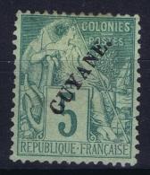 Guyane  Yv Nr  19   MH/* Falz/ Charniere 1892  (part Gomme) - Ongebruikt