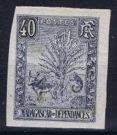 Madagascar: Yv Nr 72 Non Dentelé   MH/* Falz/ Charniere  1903  Signed/ Signé/signiert - Madagascar (1889-1960)