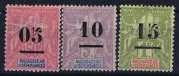 Madagascar: Yv Nr 48 - 50    MH/* Falz/ Charniere  1902 Nr 50 Has A Fold - Madagascar (1889-1960)
