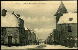 Cpa  Lapleau   Grande Rue Sous La Neige - Autres Communes