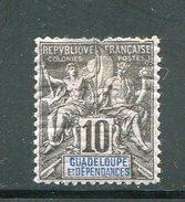 GUADELOUPE- Y&T N°31- Neuf Avec Charnière * (aminci En Haut Du Timbre, Belle Cote!!!) - Unused Stamps