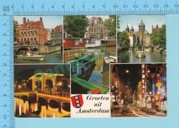 Amsterdam Pays-Bas  -Groeten Uit Amsterdam  Multi-view, Used In 1984 - 2 Scans - Pays-Bas