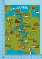 Maps, Cartes Géographiques - Europe Croisiere Sur Le Rhin Au Coeur De L'Europe  , 1985 - 2 Scans - Cartes Géographiques