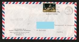 ESPAGNE  IMPRESOS  1977 N° YT 2010 Natures Mortes Poissons  - Voyagé Vers La France - 1931-Oggi: 2. Rep. - ... Juan Carlos I