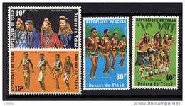 TCHAD - N° 238/241** - DANSES DU TCHAD - Tsjaad (1960-...)