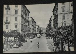 LA SPEZIA - Corso Cavour - Animata Con Auto E Corriera - La Spezia