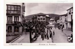 Lequeitio (Vizcaya) - Plaza Y Paseo - Carte Photo - Vizcaya (Bilbao)