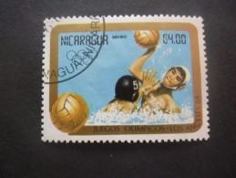 Nicaragua Poste Aérienne N°1071 WATER-POLO Oblitéré