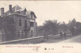 Esneux - Villa Gustave. Route De Martin (Ed. Coune, Animée, Cheval, 1905) - Esneux