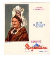 Nov16    78047     Buvard   Biscottes Magdeleine   N°40   Coiffe De Normandie   Pierrot De Bolbec - Biscottes