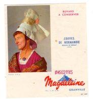 Nov16    78046     Buvard   Biscottes Magdeleine   N°59   Coiffe De Normandie   Région Bernay - Biscottes