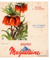 Nov16    78045     Buvard   Biscottes Magdeleine   N°4   Les Fleurs - Biscottes