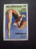 Nicaragua Poste Aérienne N°1302 PLONGEON De HAUT VOL Oblitéré