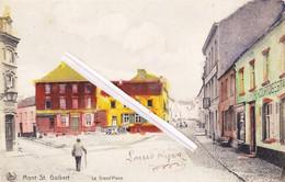 MONT SAINT GUIBERT - La Grand'Place - Superbe Carte Recolorisée - Mont-Saint-Guibert
