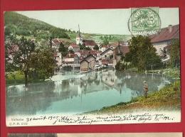 FJB-17  Vallorbe Et Orbe. Cachet Frontal  1905 - VD Vaud