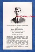 Faire Part De Décés Ancienne - NANCY Ou Environs - Jean BERNARDIN - 1948 / 1969 - Abbé Perreyve - Obituary Notices