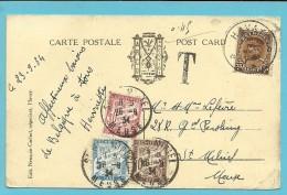 341 Op Kaart Sterstempel (Relais) * HAVAY * Naar ST-MIHIEL (France) Getaxeerd (taxe) 5/10/30 Cent Stempel SAINT-MIHIEL - 1931-1934 Kepi