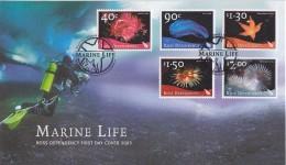 Ross Dependency 2003 Marine Life 5v  FDC (F5730) - Ross Dependency (Nieuw-Zeeland)