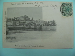 12/120 - Lembrança De S. Paulo- Rua 25 De Março E Varzea Do Carmo - 1° Edition-voy. 1904 Pas Courante - São Paulo