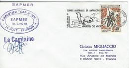 12482   Chalutier CAP HORN - Le Capitaine - St PAUL&AMSTERDAM  1975 - Cartas