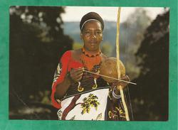 "Swaziland Swazi Musician ""gorah"" Wearing Traditional Dress 2 Scans - Swaziland"