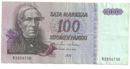 Billet 100 Markkaa Finlande 1976 - Finlande