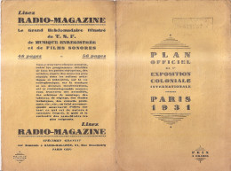 Plan Officiel Complet Et Numéroté De L' Exposition Coloniale International De Paris 1931 . Pub BYRRH . - Vieux Papiers